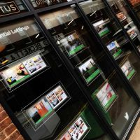 Mid West Displays LED window display for Cactus Property Sheffield image